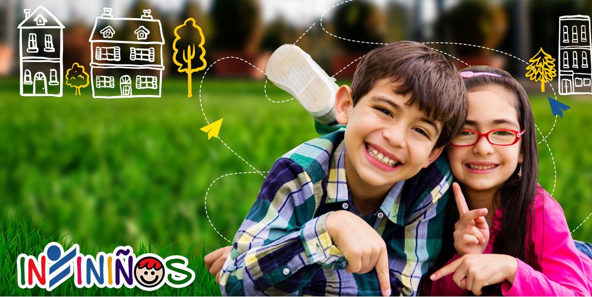 Portal para niños, esta imagen muestra a dos niños sonriendo