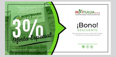 Bono para compra de locales de contado en el Centro comercial  BICENTENARIO PLAZA